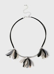 Dorothy Perkins Flower Cluster Collar Necklace Black