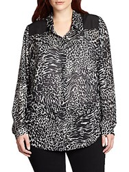 Beyond Vintage Plus Size Zebra Print Blouse Petton