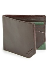 Men's Ted Baker London Leather Bifold Wallet Brown Chocolate