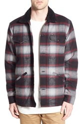 Men's Obey 'Grayson' Quilt Lined Plaid Shirt Jacket Black Multi