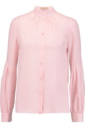 Michael Kors Collection Silk Georgette Shirt Baby Pink