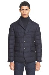 Moncler 'Rodin' Quilted Down Sport Coat Navy