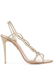 Aquazzura Swing 105 Sandals Gold