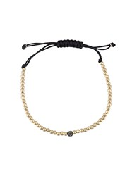 Bhindi Jewelers 14Kt Gold Beaded Bracelet Black
