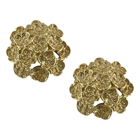 London Road 9Ct Yellow Gold Domed Posy Stud Earrings