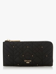 Dune Kevangelina Quilted Zip Around Purse Black