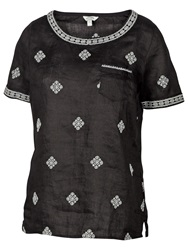 Fat Face Ely Linen Embroidered Shell Top Phantom