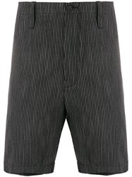 Mauro Grifoni Chalk Stripe Shorts Black
