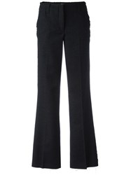 Dondup Frayed Flared Trousers Black
