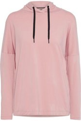 Iris And Ink Woman Stretch Jersey Hooded Top Blush