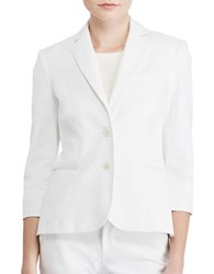 Lauren Ralph Lauren Petite Stretch Cotton Twill Jacket White