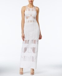 Material Girl Juniors' Burnout Illusion Bodycon Maxi Dress Only At Macy's Cloud Dancer