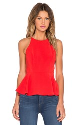 Lovers Friends X Revolve Bahama Peplum Tank Top Coral