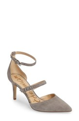 Sam Edelman Women's 'Thea' Strappy Pump Grey Frost Suede