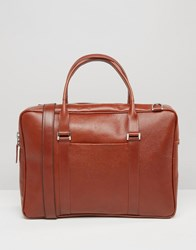 Royal Republiq Affinity Leather Laptop Bag In Cognac Brown