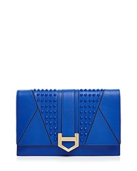 Milly Whitney Stud Clutch French Blue Gold