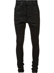 Julius Drop Crotch Super Skinny Jeans Black
