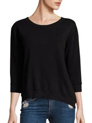 Wilt Shrunken Cotton Sweatshirt Black