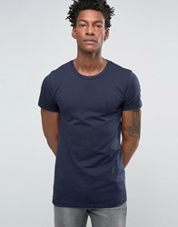 Religion Crew Neck T Shirt In Muscle Fit Navy