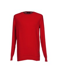 Les Copains Knitwear Jumpers Men Red