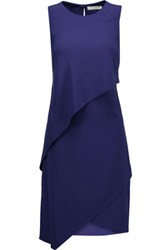Halston Heritage Layered Crepe Mini Dress Royal Blue