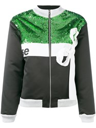 Brognano Sequinned Bow Detail Jacket Women Polyamide Polyester 40 Green