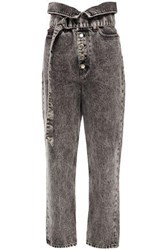 Iro Woman Fastix Fold Over High Rise Straight Leg Jeans Anthracite