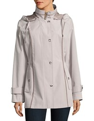 Gallery Plus Hooded Raincoat Whisper
