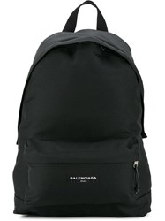 Balenciaga Explorer Canvas Backpack Black