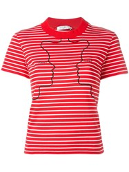 Vivetta Embroidered Striped T Shirt