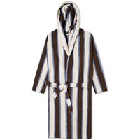 Tekla Fabrics Terry Stripe Bathrobe White