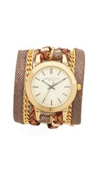 Sara Designs Classic Wrap Watch New Latte Gold