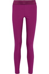 Stella Mccartney Heather Cotton Blend Leggings Purple