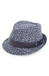 Men's Vilebrequin 'Stan' Turtle Print Fedora With Leather Trim