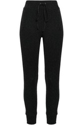 Enza Costa Woman Cotton And Cashmere Blend Track Pants Charcoal