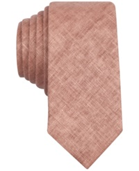 Penguin Clay Solid Skinny Tie Red