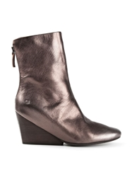 Marsell Wedge Ankle Boots Metallic