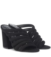 Mercedes Castillo Izzie High Suede Sandals Black
