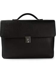 Salvatore Ferragamo Structured Briefcase Black