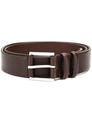 Orciani Grained Effect Belt Brown