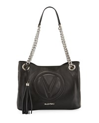 Valentino By Mario Valentino Luisa 2 Sauvage Leather Tote Bag Black
