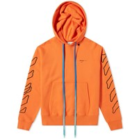 Off White Abstract Arrows Slim Hoody Orange