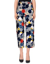 Erika Cavallini Semi Couture Erika Cavallini Semicouture Trousers Casual Trousers Women Blue