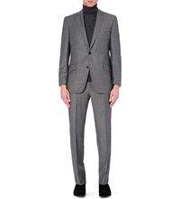 Richard James Single Breasted Regular Fit Wool Suit Mid Grey