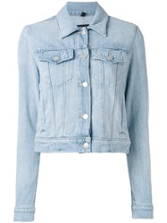 J Brand Classic Denim Jacket Women Cotton M Blue