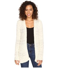 Billabong All Fur You Cardigan White Cap Women's Sweater Blue