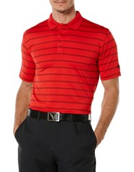 Callaway Big And Tall Striped Performance Polo Red