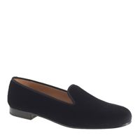 J.Crew Men's Stubbs And Wootton Classic Velvet Slippers Black