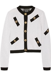 Boutique Moschino Polka Dot Knitted Cardigan