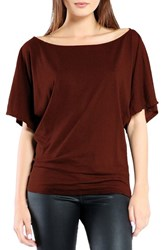 Michael Stars Women's Boatneck Dolman Tee Copper